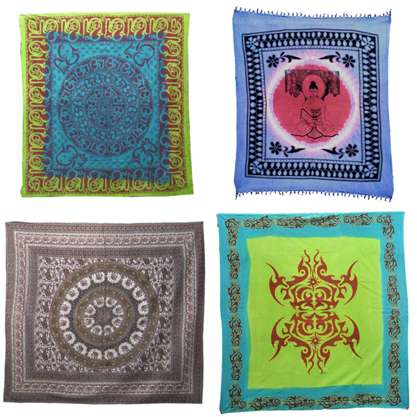 Hand printed bedspreads