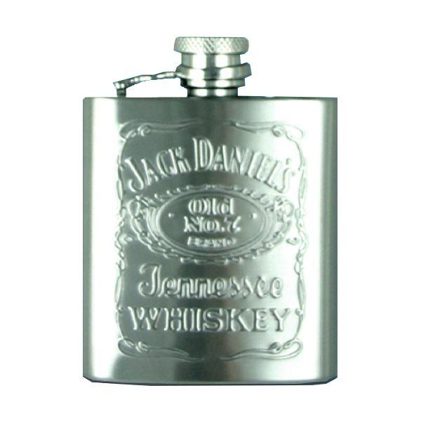Jack Daniels 2 5oz Embossed Hip Flask