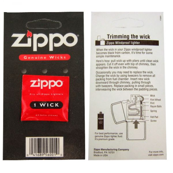 how to change the wick in a zippo lighter