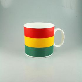 Rasta Coloured Ceramic Mug