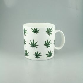 White Hemp Pattern Ceramic Mug