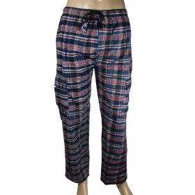 Damogran Chequered Flannel Combat Trousers