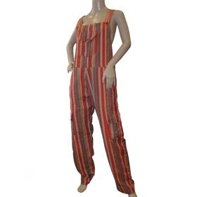 Andromeda Funky Striped Cotton Dungarees