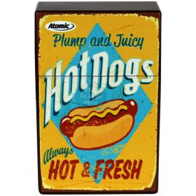 Retro Cigarette Packet Cover - Hot Dogs