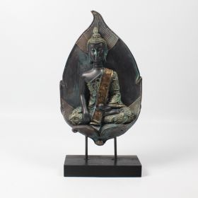 Thai Bhumisparsha Buddha with Leaf Back