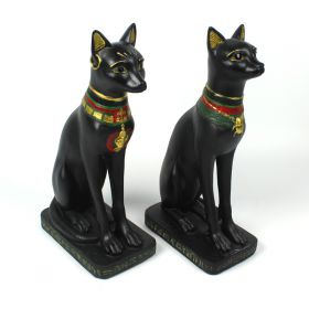 Egyptian Bast Ornamental Statues - Pair