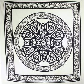 Black & White Celtic Knot Bedspread