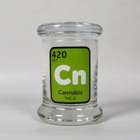 420 Classic Pop Top Jar Cannabis Element - Extra Small