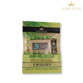 King Palm Organic Pre-Rolled Leaf - Rollie 0.5g (5 Pack)