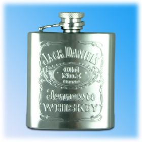 Jack Daniels 2.5oz Embossed Hip Flask