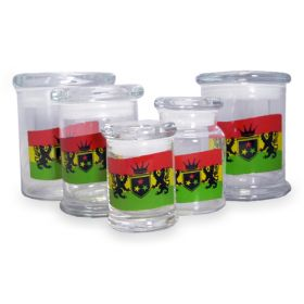 420 Classic Pop Top Jar Rasta Flag - Small