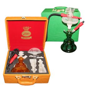 Al Fakher All Glass Shisha with Carry Case