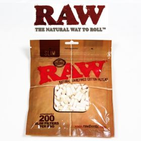 RAW Natural Unrefined Cotton Filters - Slim