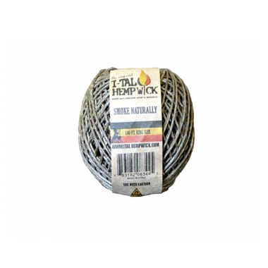 I-Tal Hemp Wick - Kingsize (100ft)