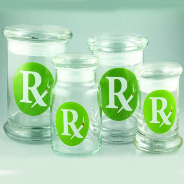 420 Classic Pop Top Jar Rx Green