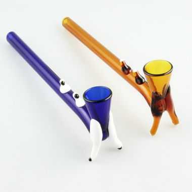 Coloured Glass Tobacco Pipe