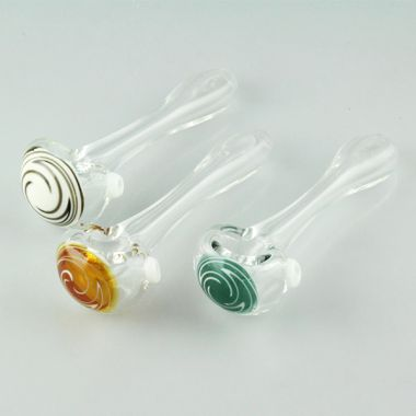 Transparent Swirl Spoon Pipe