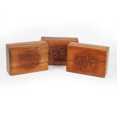 Smooth Wooden Jewellery Boxes
