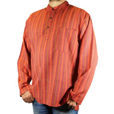 Frazer Striped Granddad Shirt
