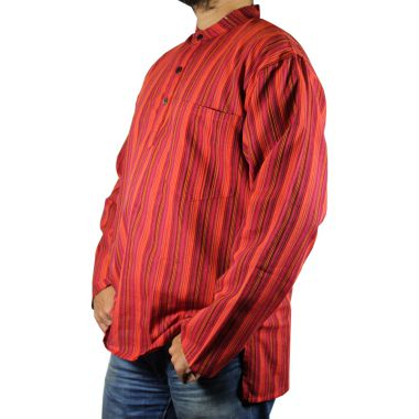 Hodges Striped Granddad Shirt
