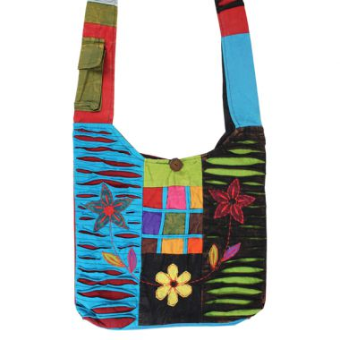 Nepalese Shoulder Bags - Flower