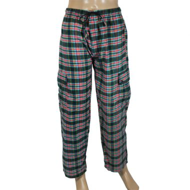 Bartemius Chequered Flannel Combat Trousers
