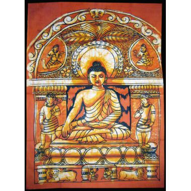 Buddha Bhumisparsa Batik Small - Orange