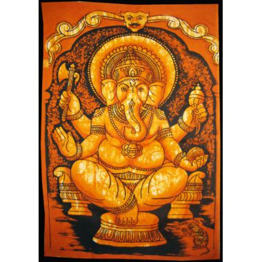 Ganesha with Parashu Batik Small