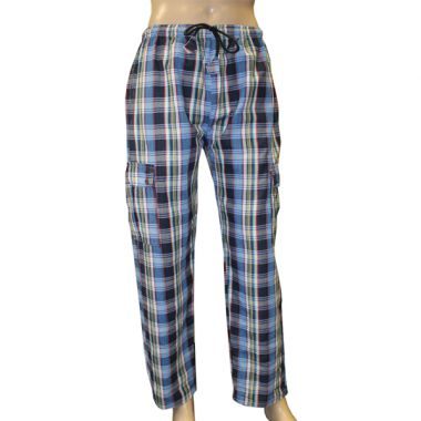 Tyrion Chequered Combat Trousers - Large