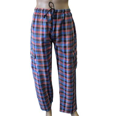 Minas Chequered Combat Trousers - Large