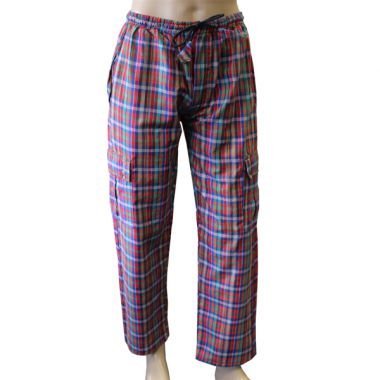 Edoraas Chequered Combat Trousers - Large