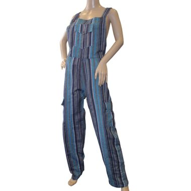 Riker Funky Striped Cotton Dungarees