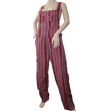 Sirius Funky Striped Cotton Dungarees