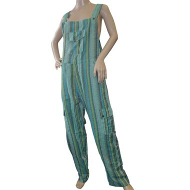 Narcissa Funky Striped Cotton Dungarees