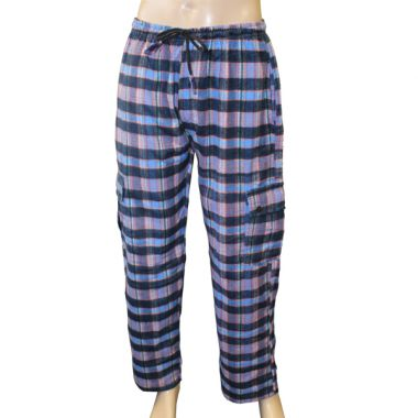 Desiato Flannel Chequered Combat Trousers