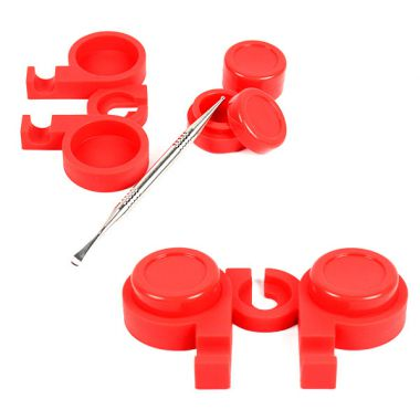Double Silicone Pot With Dabber Holder