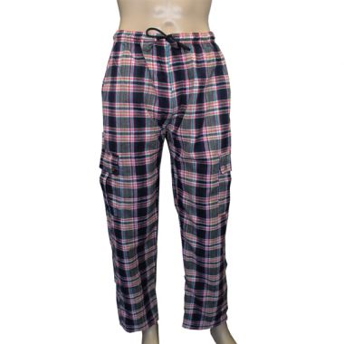 Trinity Chequered Flannel Combat Trousers