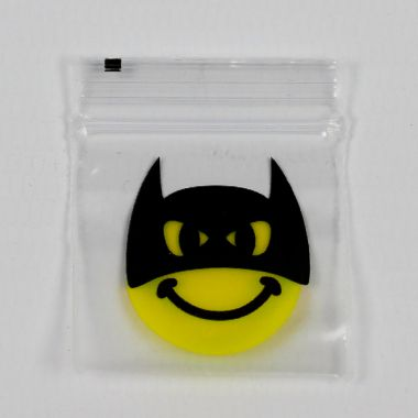 Picture Button Bags - 60mm x 60mm Bat Smiley