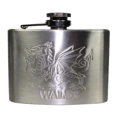 Welsh Dragon Hip Flask - 4oz