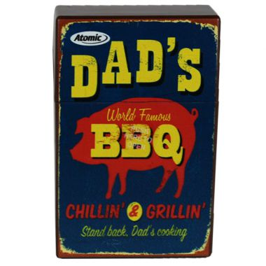 Retro Cigarette Packet Cover - Dad's BBQ