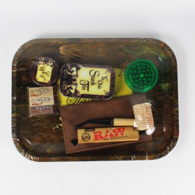 'Ye Olde Stash Tin' Metal Roll Tray Giftset