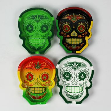 Sugar Skull Resin Ashtray