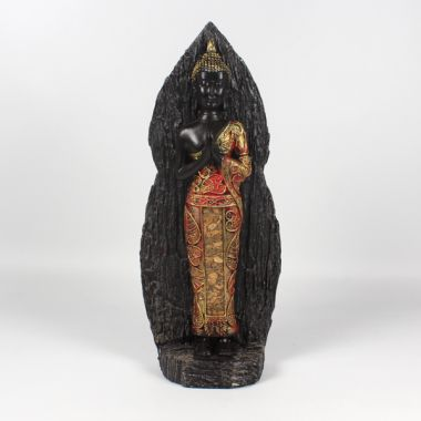 Standing Thai Buddha 30cm - Red/Gold