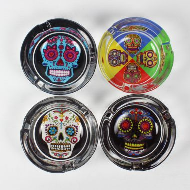 Day of the Dead Glass Ashtrays