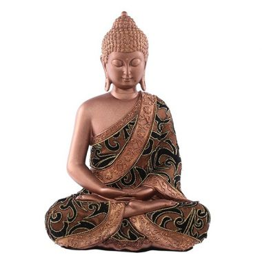 Thai Buddha Dhyana Fabric Effect Statue