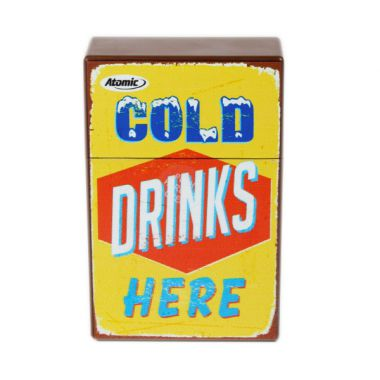 Retro Cigarette Packet Cover - Cold Drinks