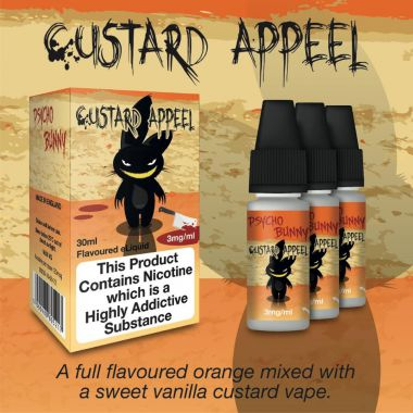 Psycho Bunny Custard Appeel 3x10ml (Orange with Vanilla Custard) - 6mg