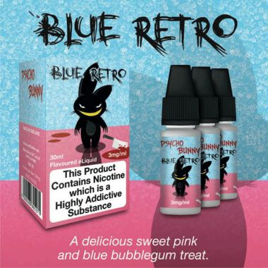 Psycho Bunny Blue Retro 3x10ml (Sweet Bubblegum Treat) - 3mg