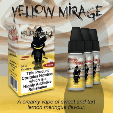 Psycho Bunny Yellow Mirage 3x10ml (Creamy Lemon Meringue)