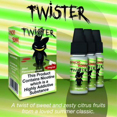 Psycho Bunny Twister 3x10ml (A twist of sweet and zesty citrus fruits)